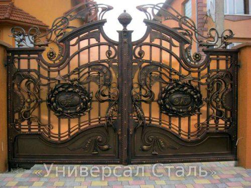 Кованые ворота V-024 — фото