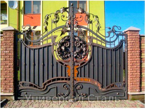 Кованые ворота V-025 — фото