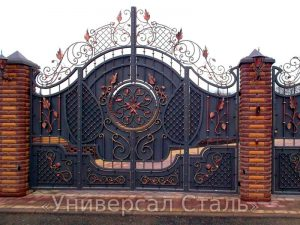 Кованые ворота №136