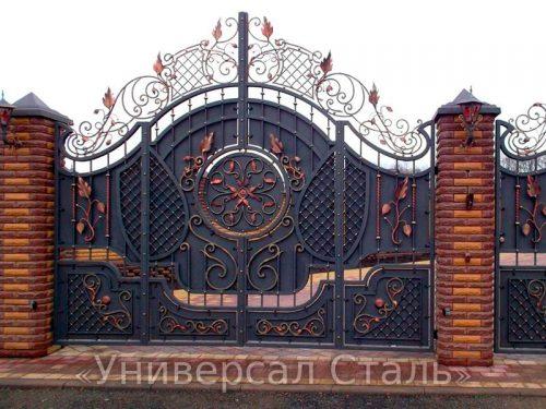 Кованые ворота V-026 — фото