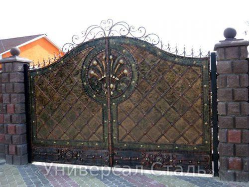 Кованые ворота V-027 — фото