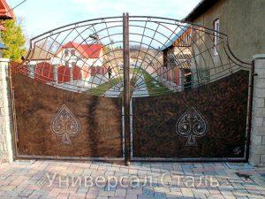Кованые ворота V-028 - фото 1