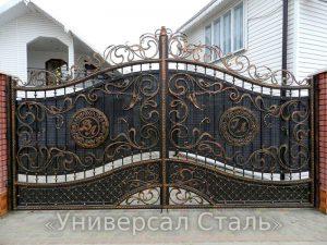 Кованые ворота V-029 - фото 1