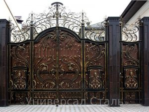 Кованые ворота V-031 - фото 1