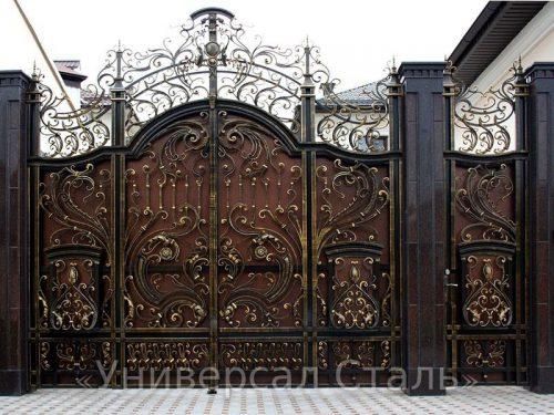 Кованые ворота V-031 — фото
