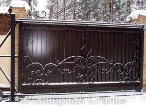 Кованые ворота V-033 - фото 1