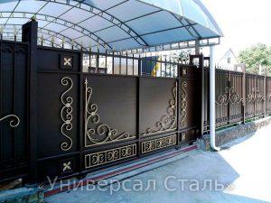 Кованые ворота V-034