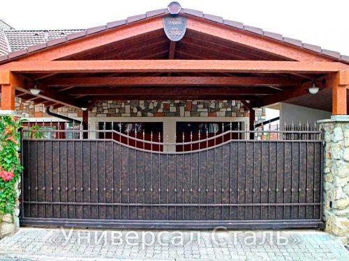 Кованые ворота V-035 — фото