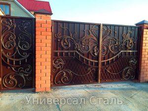 Кованые ворота V-036