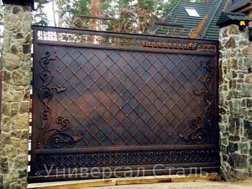 Кованые ворота V-038 — фото