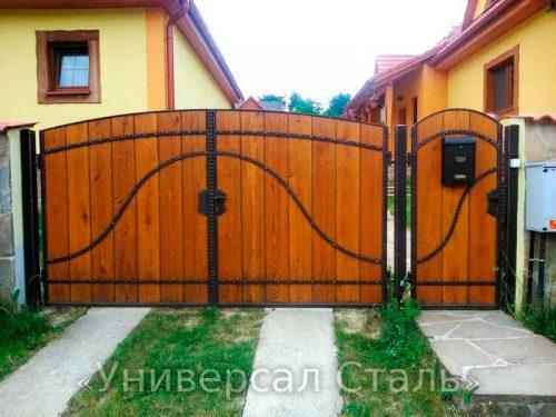 Кованые ворота V-040 — фото