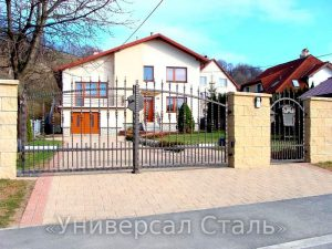 Кованые ворота V-042 - фото 1