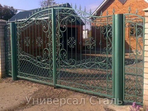 Кованые ворота V-043 — фото