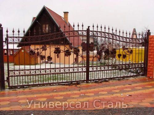 Кованые ворота V-044 — фото