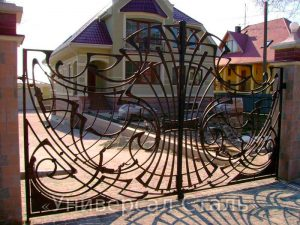 Кованые ворота V-046 - фото 1