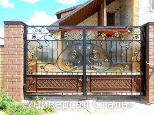 Кованые ворота V-047 - фото 1