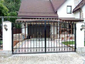 Кованые ворота V-048 - фото 1