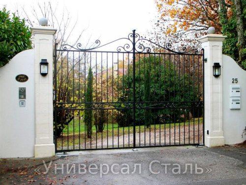 Кованые ворота V-049 — фото