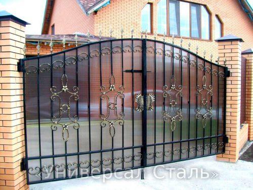 Кованые ворота V-052 — фото