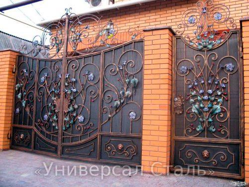 Кованые ворота V-053 — фото