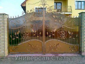Кованые ворота V-055