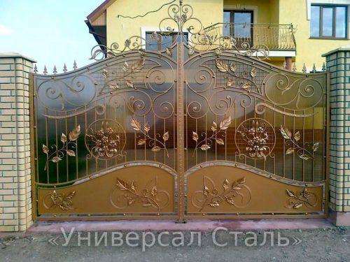 Кованые ворота V-055 — фото