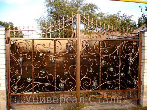 Кованые ворота V-056 — фото