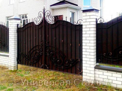 Кованые ворота V-057 — фото