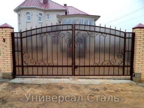 Кованые ворота V-059 — фото