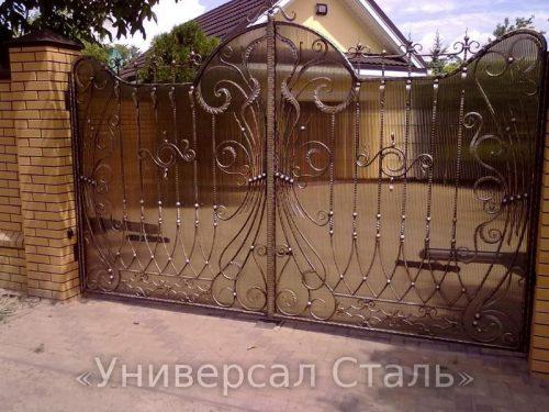 Кованые ворота V-061 — фото