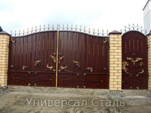 Кованые ворота V-065 — фото