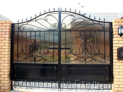 Кованые ворота V-066 — фото