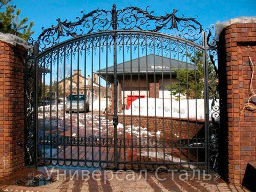 Кованые ворота V-067 — фото