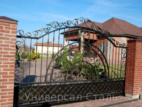 Кованые ворота V-068 — фото