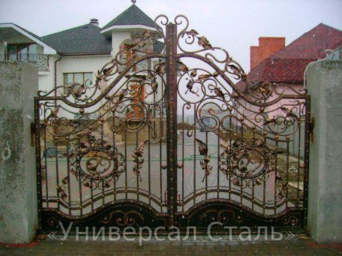 Кованые ворота V-069 — фото