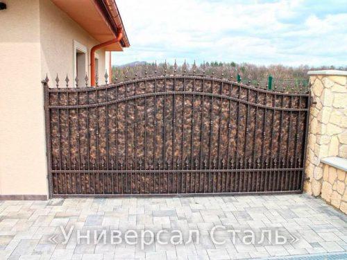 Кованые ворота V-071 — фото