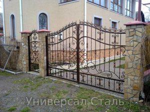 Кованые ворота V-073