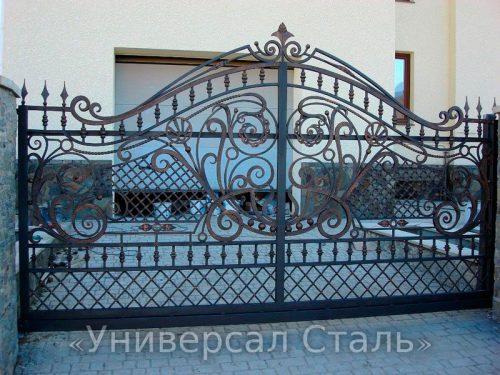 Кованые ворота V-074 — фото
