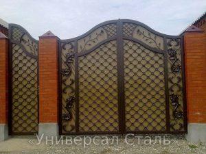 Кованые ворота V-075