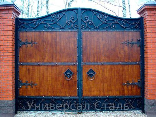 Кованые ворота V-076 — фото