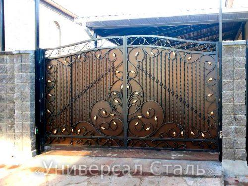 Кованые ворота V-077 — фото