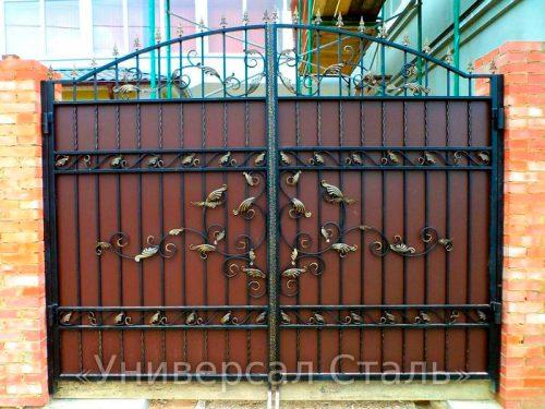 Кованые ворота V-079 — фото