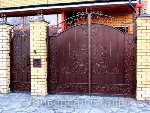 Кованые ворота V-080 — фото
