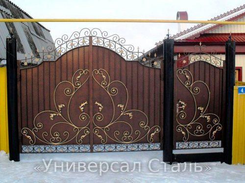 Кованые ворота V-081 — фото