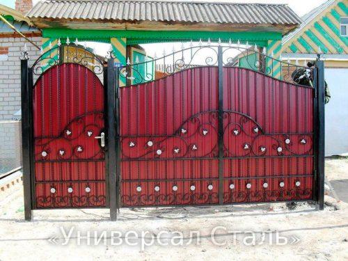 Кованые ворота V-083 — фото