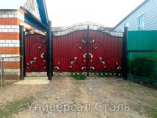 Кованые ворота V-084 — фото