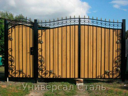 Кованые ворота V-085 — фото