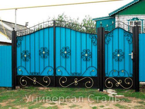 Кованые ворота V-087 — фото