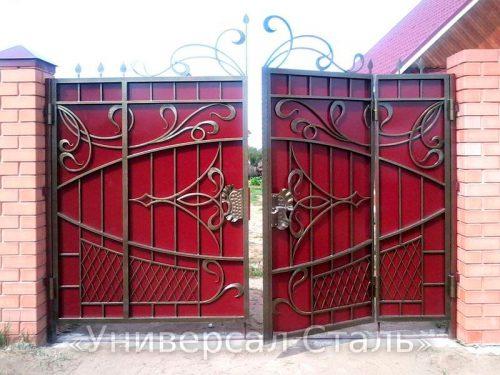 Кованые ворота V-092 — фото