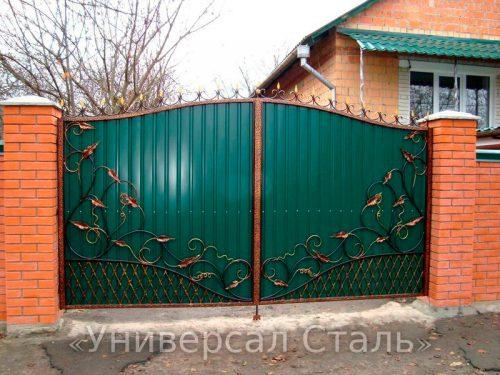 Кованые ворота V-093 — фото